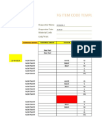 FG Item Code Creation