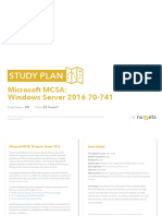 Study Plan Microsoft MCSA Windows Server 2016-70-741