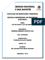 Informe de Ley de Gauss y Ampere