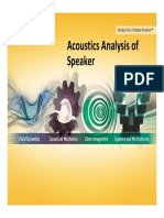 Acoustics Analysis of Speaker