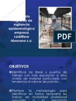 Presentación Programa de Vigilancia Epidemiologica Ladriller Alemana