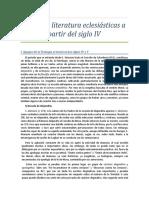 Tesis 13 - Ciencia y literatura eclesiásticas a partir del siglo IV.doc