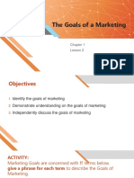 Ch1L2 Goals of Marketing