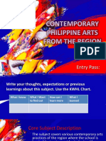 Historical Background of Philippine Contemporary arts