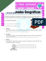 Coordenadas Geograficas Para Quinto de Primaria