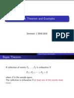 Probability Bayes Theorem