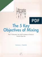 01 the 5 Key Objectives of Mixing – Summary Checklist