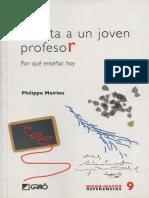 Carta a Un Joven Profesor-Philippe Meirieu