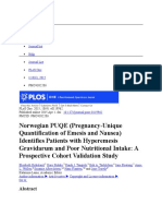 3. Norwegian PUQE (Pregnancy-Unique Quantification of Emesis and Nausea) (e)