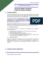 Huacahara- Especificaciones Tecnicas Saneamiento Basico