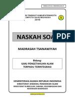 Soal KSM IPA kab 2018