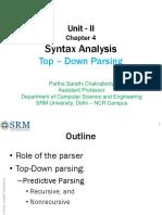 Compiler Unit-2 Partha Sir
