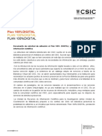 Plan100% DIGITAL CSIC