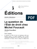 Senellart (2018) La Question de l'État de Droit Chez Michel Foucault