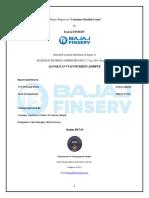 Summer Intership Project Bajaj Finserv