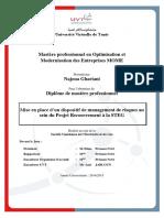 Dispositif Management Risques Projet Recouvrement STEG