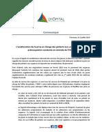 Communiqué de la direction de l'hôpital Nord Franche-Comté sur la situation aux urgences