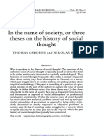 (1997) in the Name of Society, Or Three Thesis on the History of Social Thought