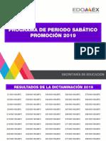 Resultados Programa Sabático Edomex 2019
