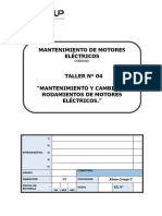 T04 Mantenimiento y Cambio de Rodamientos de Motores Eléctricos.