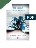 MI HIJO ES UN ADOLESCENTE. Joseph Knobel Freud