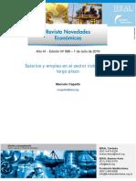 Salarios y empleo en el sector industrial a largo plazo IERAL-Fundación Mediterráneo