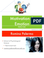 Week 10. PSYC1101. Emotion & Motivation. Lecture 1. Romina Palermo