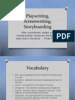 Play writing Screenwriting Story boarding