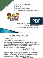 Motor Speech Disorder Presentation