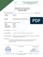 Certificado de Calibracion