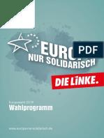 Wahlprogramm die Linke, Europawahl