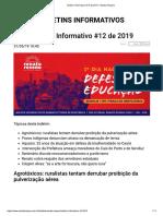 Boletim Informativo #12 de 2019 - Renato Roseno