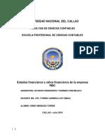RATIOS FINANCIEROS, Red Bicolor de comunicaciones S.A.A.docx
