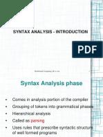 syntaxanalysis