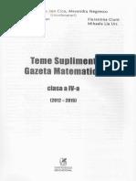Gazeta Matematica Clasa 4 Teme supliment - Radu Gologan.pdf