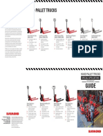 Raymond Special Application Hand Pallet Trucks Product Reference Guide SIPB1032A