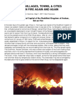 Fires in Rakhine State