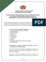 Protocolo Articulo Cientifico - Posgrado 2016