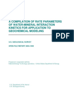 A COMPILATION OF RATES PARAMETERS OF WATER-MINERAL INTERACTION