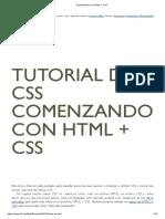 Comenzando con HTML + CSS 10