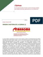 Origen e Historia de La Quinua (i) Todo Sobre La Quinua