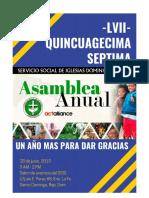 Lvii Asamblea Anual Del Ssid, 2019