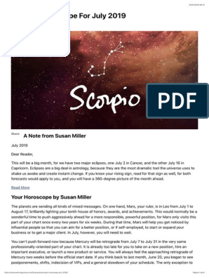 Free susan miller monthly horoscopes