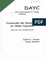 DAYC Evaluación del Desarrollo de Niños Pequeños