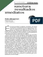 Acupuntura com resultados imediatos - Pedro Albuquerque