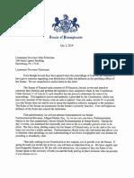 Senate GOP letter to Lt. Gov. John Fetterman