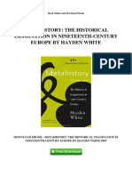 Metahistory the Historical Imagination in Nineteenth Century Europe by Hayden White