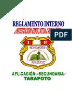 Reglamento Interno Ie Aplicacion-2019