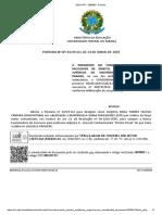 Portaria Nº 41 19 SCJ 2ª Alteração Comissão Julgadora Direito Penal