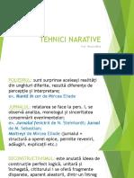 Tehnici Narative, Cls. x